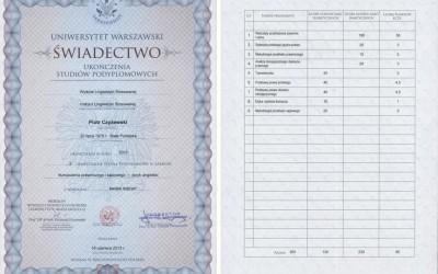 PostgraguateLegalTranslationCertificate
